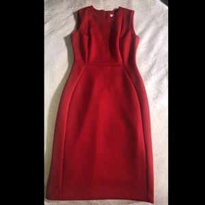 Red Calvin Klein Midi Casual Dress
